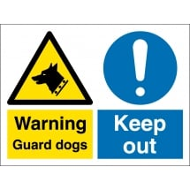 Guard Dogs Keep Out Signs