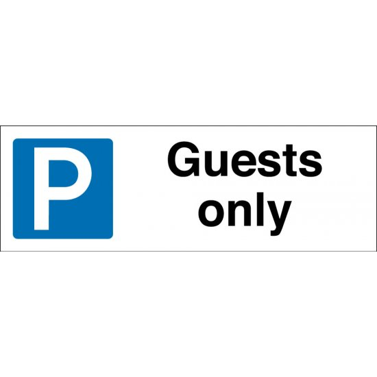 Guests Only Parking Signs