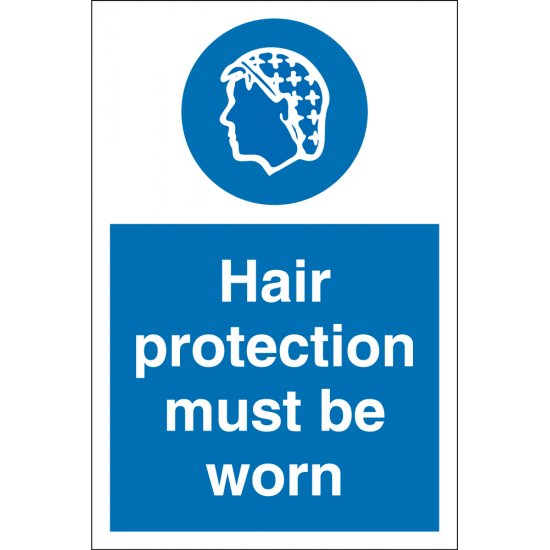Hair Protection Must Be Worn Signs