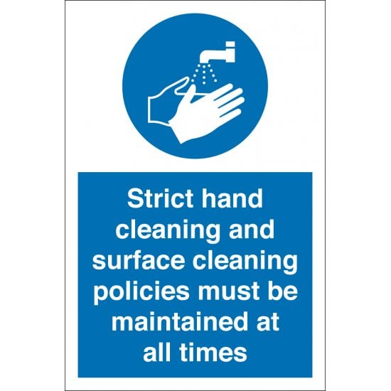 Hand Cleaning And Surface Cleaning Maintained Signs
