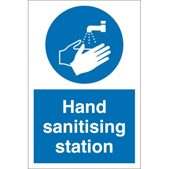 Hand Sanitising Station Signs