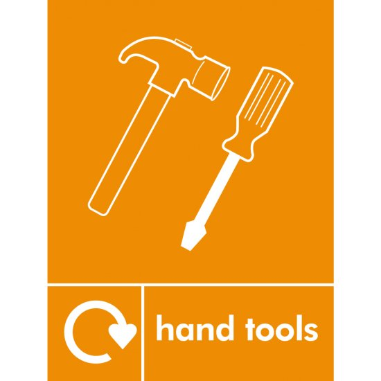 Hand Tools Waste Recycling Signs