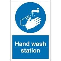 Hand Wash Station Signs