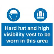 Hard Hat And High Visibility Vest Signs
