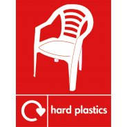Hard Plastics Recycling Signs