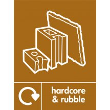 Hardcore and Rubble Waste Recycling Signs