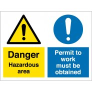 Hazardous Area Permit To Work Signs