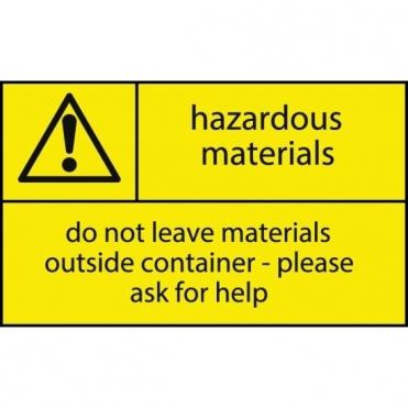 Hazardous Materials Signage