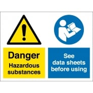 Hazardous Substances See Data Sheets Before Using Signs
