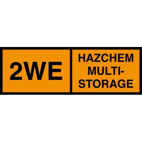 Hazchem Multi Storage 2WE Signs