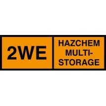 Hazchem Multi Storage 2WE Signs