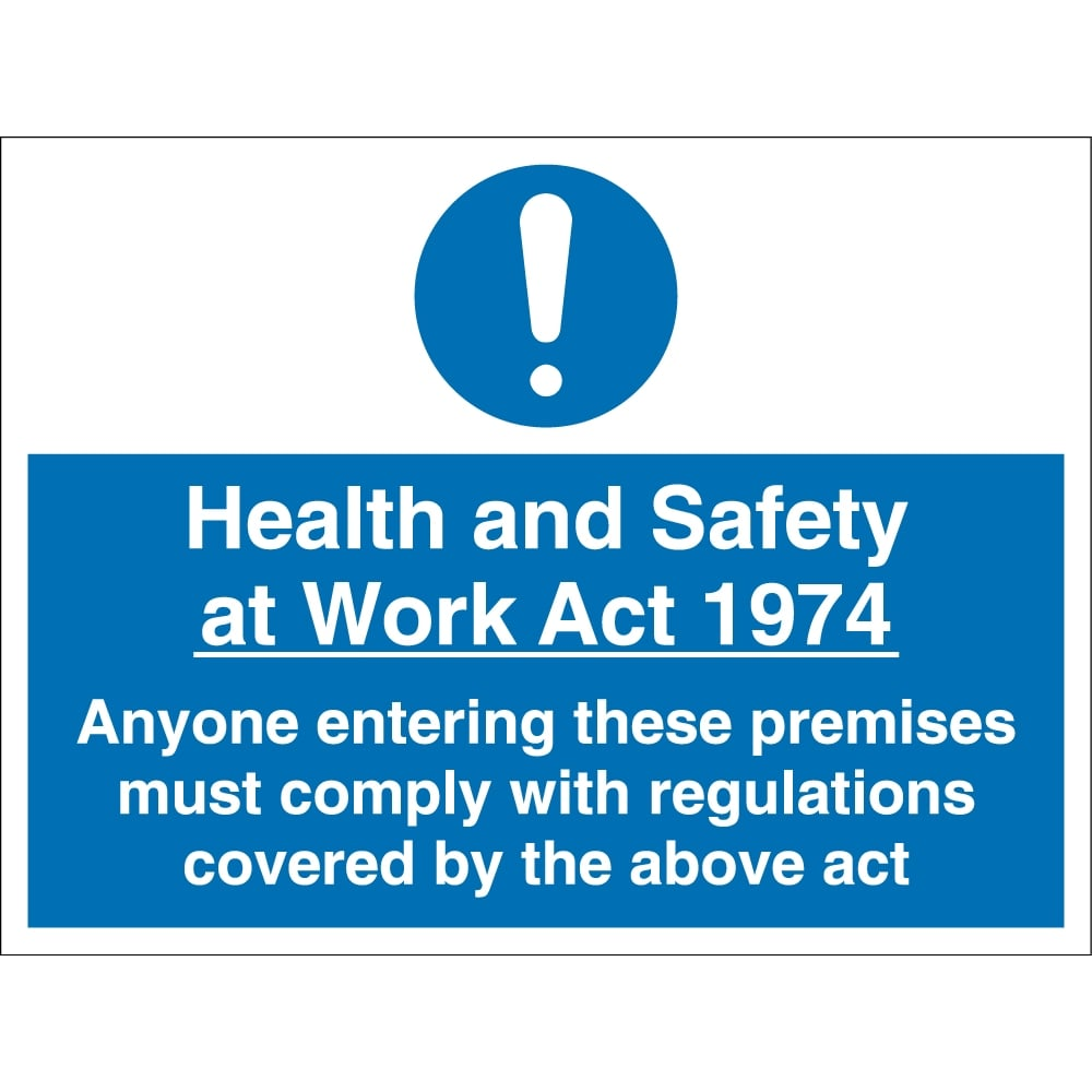 Safety At Work : Health and safety at work act signs from key uk
