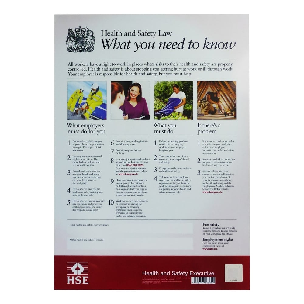 Health and safety law posters from key signs uk health and safety law posters 1betcityfo Gallery