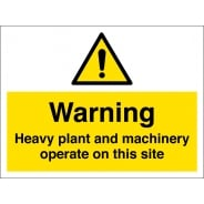 Heavy Plant And Machinery Operate On This Site