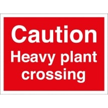 Heavy Plant Crossing Signs