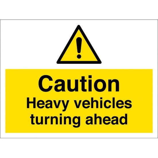Heavy Vehicles Turning Ahead Signs