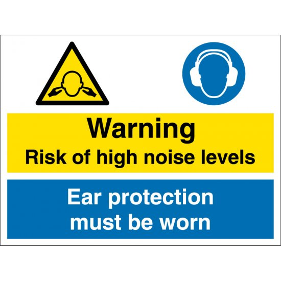 High Noise Levels Safety Signs