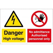 High Voltage Authorised Personnel Only Signs