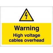 High Voltage Cables Overhead Signs