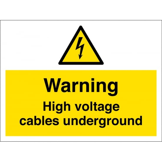High Voltage Cables Underground Signs
