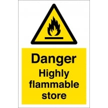 Highly Flammable Store Signs