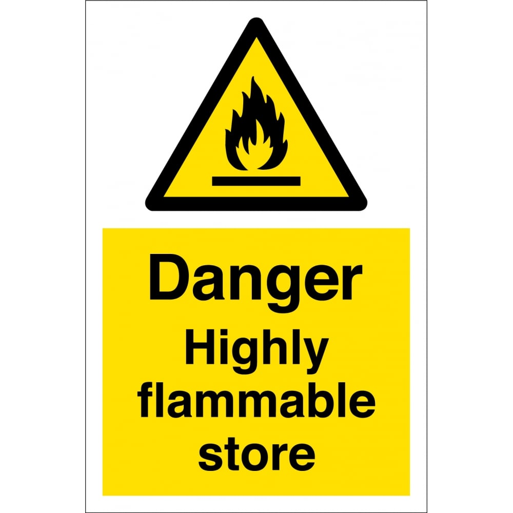 Highly flammable store signs from key signs uk highly flammable store signs buycottarizona