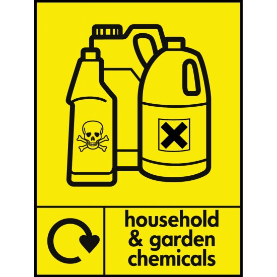 Household And Garden Chemicals Waste Signs