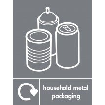 Household Metal Packaging Recycling Signs