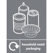 Household Metal Packaging Waste Signs