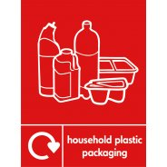 Household Plastic Packaging Recycling Signs
