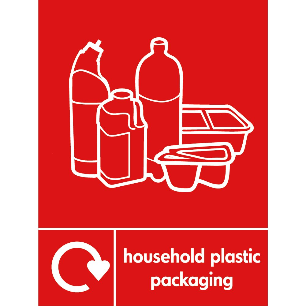 Recycling Signs Plastic Household Plastic Pack...