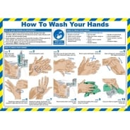 How To Wash Your Hands Posters 590mm x 420mm