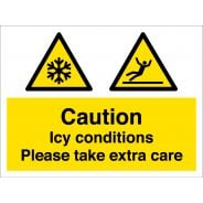 Icy Conditions Safety Signs