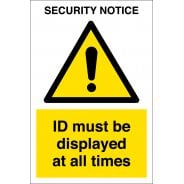 ID Must Be Displayed At All Tmes Signs