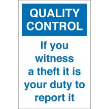 If You Witness A Theft Signs