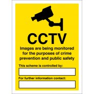 Images Are Being Monitored Signs