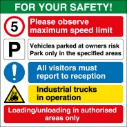Industrial Vehicles Safety Signs