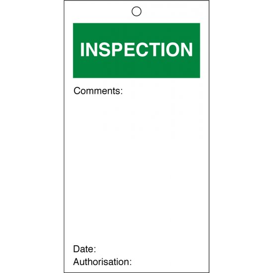 Inspection Quality Control Tags 80mm x 150mm Pack of 10