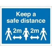 Keep A Safe Distance Signs