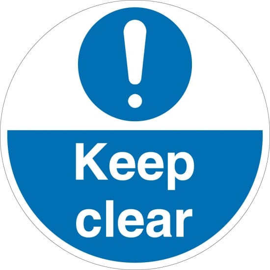Keep Clear Floor Signs