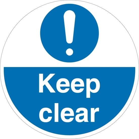 Keep Clear Floor Signs