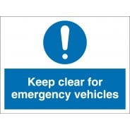 Keep Clear For Emergency Vehicles Signs