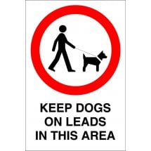Keep Dogs On Leads In This Area Signs