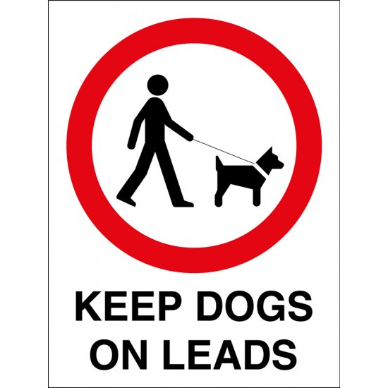 Keep Dogs On Leads Signs