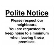 Keep Noise To A Minimum Signs