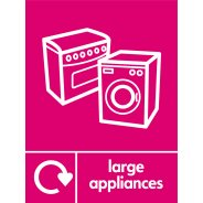 Large Appliances Recycling Signs