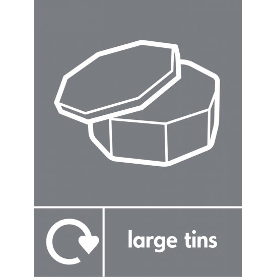 Large Tins Waste Recycling Signs