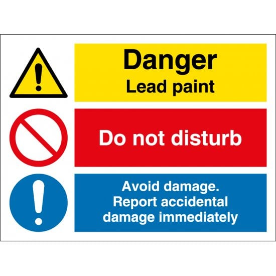 Lead Paint Avoid Damage Signs