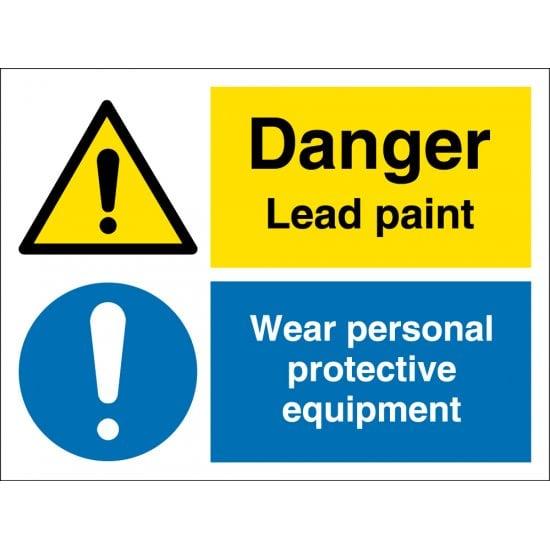 Lead Paint Wear PPE Signs