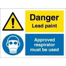 Lead Paint Wear Respirator Signs